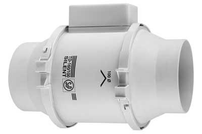 Unelvent td160 100n silent extracteur d 39 air conduit 250454 td 160 100n si - Extracteur d air salle de bain diametre 80 ...