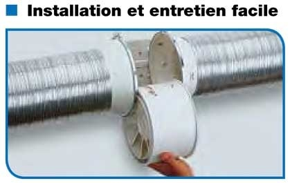 Unelvent td350 125 extracteur d 39 air conduit 250455 td 350 125 for Extracteur d air salle de bain