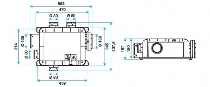 Aldes kit bahia compact micro watt t3 hygro b vmc 11033203 kit bahia compac - Vmc simple flux hygroreglable bahia ...