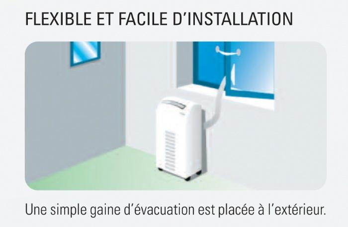 Airwell awpo maf012 c11 climatiseur mobile monobloc awpo - Gaine evacuation climatiseur mobile ...