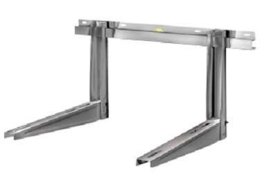 Ms263 rodigas support mural climatiseur chassis inox 465mm for Support mural cuisine inox